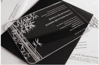 bamboo invitations - High Grade Clear Acrylic Wedding invitations card with bamboo pattern YH A1607