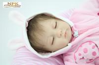 achat en gros de reborn baby-Véritable marque Baby Doll Reborn bébé Silica gel parent-enfant Toy 45cm 1,2 kg NPK Reborn bébé