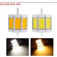 Wholesale R7S COB led bulb mm W mm W mm W mm W COB LED corn bulb AC85 V replace halogen floodlight PM01267