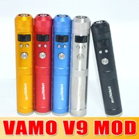 Wholesale free epacket Newest W Vamo V9 mod Mechanical Mod with LCD Display Variable Voltage and Wattage Tube Mods fit for battery
