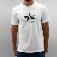 alpha men - New fashion summer style mens t shirts Alpha Industries T shirt Cotton short sleeves tee tops tees tshirts