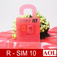 Wholesale Newest Original Rsim10 R SIM rsim R SIM Unlock Card for iphone S C S plus iOS6 X X Support Sprint AT T T mobile Cricket