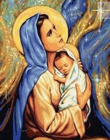 baby cross stitch patterns - DIY diamond painting cross stitch Needlework diamond mosaic diamond embroidery virgin Mary and baby pattern hobbies and crafts