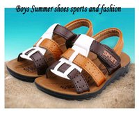 Wholesale Size children s shoes beach sandals sports Sandals boys shoes summer kids slippers leather Sandals boys