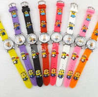 Wholesale 3D Cartoon Quartz Silicon Wrist Watch Children Kids Wristwatches Mixed Color Style Spiderman Batman Dragon Ball Luxury Watches UPS Factory