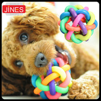 Wholesale Pet Cat Cotton Rubber Balls Toys Dog training supplies Chew Teeth Clean Throw Train Play Ball Safety