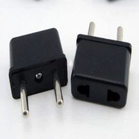 Wholesale 1PC Travel Wall AC Power Charger Universal US To EU Plug USA To Euro Europe Outlet Adapter Converter