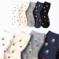 bananas love - Brand New Minions Banana love cute sox Autumn Summer South Korean women s Fashion Cotton tube Socks meias soks