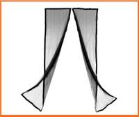 Wholesale 2 m black Mesh Magnetic Screen Door Curtains Prevent Mosquito Door Magnetic Buckle Mesh dandys hot sale