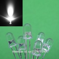 Wholesale x LED mm White Urtal Bright Light Bulb led lamp Electronic Components MCD MM LED Emitting Diodes pieces