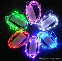 Wholesale 100pcs Big discout LEDS LED String Lights M Battery operated Clear Wire Christmas decoration X mas holiday lights Y126
