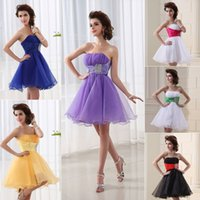 amazing cocktails - Amazing Cheap In Stock Prom Dresses Lilac Pink Black Blue White Yellow Strapless Beads A Line Short Homecoming Cocktail Party Gowns