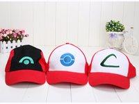 Wholesale Poke Go Pikachu Visor Cap ASH KETCHUM COSTUME Cosplay Hat Baseball Cap
