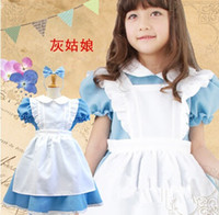 alice cosplay - halloween costumes for girls alice in wonderland costume Fancy Dress Cosplay maid dress cosplay costume with bow headband
