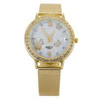 best name brand dress - Luxury gold watch Full stainless steel woman fashion dress watches women brand name Geneva quartz watch best quality