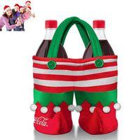 Wholesale LJJD3740 Christmas Genius Coke bag Santa Claus coke bag Christmas Bottle Cover Genius Christmas Dinner Table Decoration