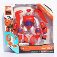 Red big robots - Assemble Big Hero Baymax Action Figure Toy Fat Balloon Man Doll Baymax Robot Toys CM