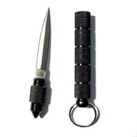 key tool - Brand New Hot Black Steel Key Chain Blade Knife Tactical Dagger Self Defense Hand Tools