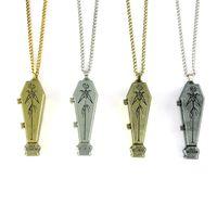 South American american coffin - Jack Skellington Coffin locket Pendant Necklace Vintage Style Alloy