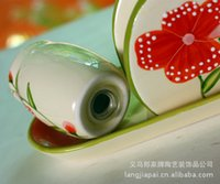 Wholesale Manufacturers special ceramic pepper shakers plus towel rack support small mixed batch JH