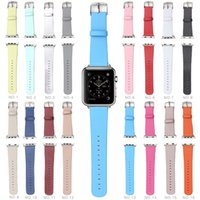 Wholesale Watch Bands Wristband Buckle Strap Replacement Straps for iwatch Crocodile Leather Bands with Adapter Retail Packaging For Apple Watch