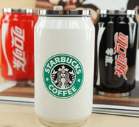 stainless steel water bottle - 2015 high quality Stainless steel vacuum thermos cup red black and white Starbucks water cup Cans bottle