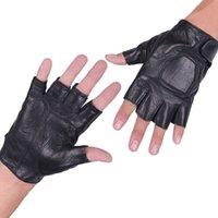 half finger gloves - All Soft Sheepskin Bike Gloves Motorbike Racing Gloves Motorcycle Men New Racing Bike Bicycle Cycling Half Finger Bicycle Gloves