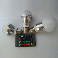 rgb led panel - E27 W RGB Globe LED Bulb AC85V V LED Bulb Globe Dimmable W LED Bulb with KEy IR Remote Panel