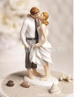 beach cake decorations - Beach Kissing Resin Couple Figures Funny wedding Cake Toppers for wedding decoration supplies differents mondel for you wedding