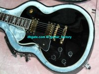 Wholesale Custom left handed electric guitar Black Les Guitars Chinese guitar