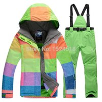 Wholesale Gsou snow Ski suit for Women suits Snowboarding waterproof Windproof outdoorwear