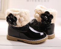 elastic band for shoes - New Arrival Girl Winter Boots Children Kids Martin Boots Girls PU Leather Shoes Elastic band Fashion Snow Boots For Girls Black J3656