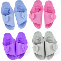 bathroom accessories purple - 2015 New Sandals Flip flop Travel Accessories Travel Folding Portable slippers Bathroom slip Massage Ms male models Bath slippers Sandals