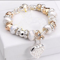 Wholesale 2015 new arrival silver charm charmilia bracelet for women girls Fashion Jewelry Sterling Silver Bracelets Bangles