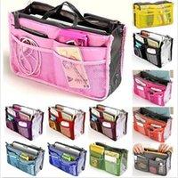 Wholesale Women Fashion Organizer Travel Bag Purse Handbag Insert Tidy Makeup Cosmetic bag Storage Phone bag Pouch Tote Sundry MP3 Mp4 bags A137 p
