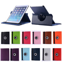 Wholesale For iPad PU Leather Cover Case Degree Rotating Stand For iPad mini Air Tablet Cases Factory Sale