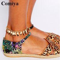 aqua rocks - Fashion water drop metal link chain with tassels rock charm handmade accessories bijoux women gold plated Anklets