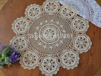 crochet table cloth - cm Round colorful natural cotton crochet table cloth for wedding decor table cover for home decor towel flower