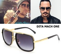 adam lambert - New Fashion Dita Mach One Adam Lambert Style Sunglasses Vintage Classic Brand Design Sun Glasses Men Women Oculos De Sol