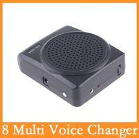 mini megaphone - High quality Mini Multi Voice Changer Microphone Megaphone Loudspeaker Speaker Black Dropshipping With Retail Box Via DHL