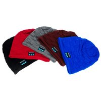 answers travel - Wireless Bluetooth Knit Hat Music Cap Beanie Hat Hands free Phone Call Answer Built in Stereo Speakers for Travelling for Men Women