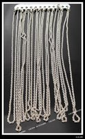 Wholesale 15xPlated Rhodium Twist Link Necklace Chain Jewelry Findings