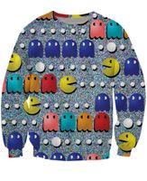 arcade games sports - PacMan Crewneck Sweatshirt s classic arcade game icon emoji d Pull Sweat Women Fashion Clothing Men Sport Tops Jumper Jogging