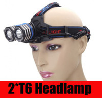 lumens - Top Quality Lumens Headlamp CREE XM L T6 LED Headlight For Head Lamp Torch LED Flashlight Head Light by battery