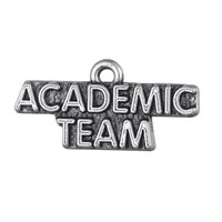 academic fashion - New Fashion Easy to diy a new coming Academic Team message Charm jewelry making fit for necklace or bracelet
