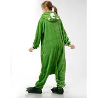 adult green onesie - Monocular Onesie Unisex Animal Pajamas Adult Onesie Cosplay Costume Sleepwear For Halloween Party Jumpsuit