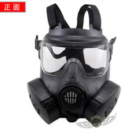 Wholesale DC Desert Corps M50 Airsoft Mask Adults Paintball Full Face Skull Gas CS Army Masks With Fan for War Game CS Halloween