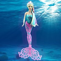 Wholesale Can swing little mermaid tail swimming Dolls colorful wig for girls mermaid toy top Moxie Girls mermaid child Toys With bath