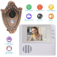 Wholesale Multifunction Home Security inch LCD Color Digital GB Memory Door Peephole Viewer Video Recorder Doorbell Security Camera order lt no tr