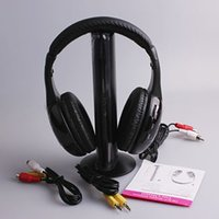 Wireless MP3/MP4 Stereo Chrismas gift 5 in 1 HIFI Wireless headphone Earphone Headset wireless Monitor FM radio TV audio